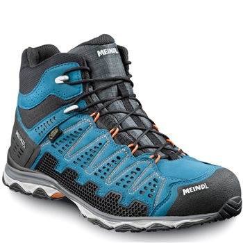 Meindl Mens X-SO 70 Mid Walking / Hiking Boots Blue/Orange - Click to view larger image