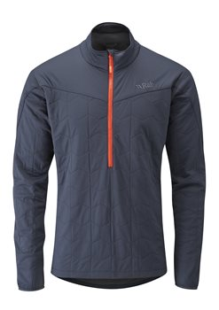 Rab Mens Paradox Pull-on Insulated Jacket Ebony Zinc - Click to view larger image