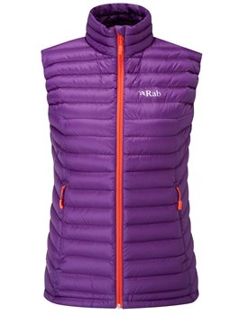 Rab Microlight Vest Womens 2017-18  AubergineQuince - Click to view larger image