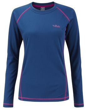 Rab Dryflo Long Sleeve 120 Womens Ink - Click to view larger image