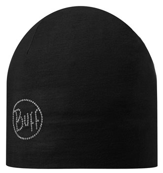 Buff Microfibre 2 Layer Hat Solid Black - Click to view larger image