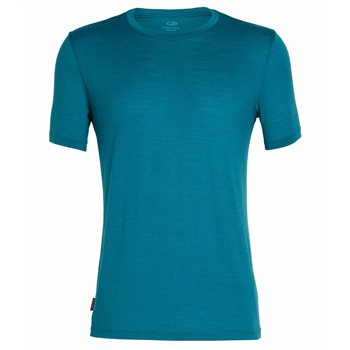 Icebreaker Mens Tech Lite SS Crewe Base Layer Poseidon - Click to view larger image