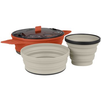 Sea to Summit X-Set 21 1 Person Lightweight Collapsible Compact Cooking Set  - Click to view larger image