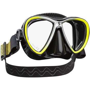 Scubapro Synergy Twin Trufit Dive Mask Yellow Black Silicone - Click to view larger image