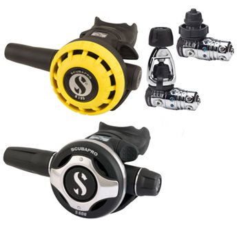Scubapro MK25 Evo S600 Regulator + R195 Octopus Second Stage  - Click to view larger image