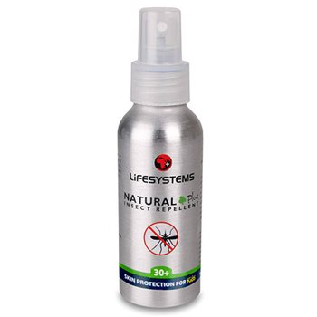 Lifesystems Natural Plus 30+ 100ml Insect Repellent Spray  - Click to view larger image