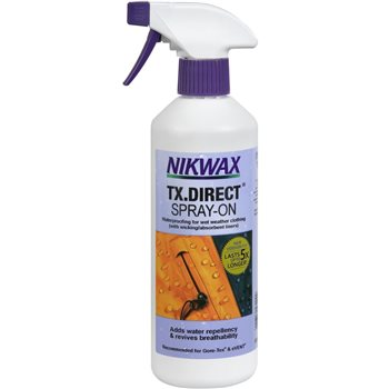 Nikwax TX Direct Spray 500ml Water Proofer for Wet Weather Fabrics  - Click to view larger image