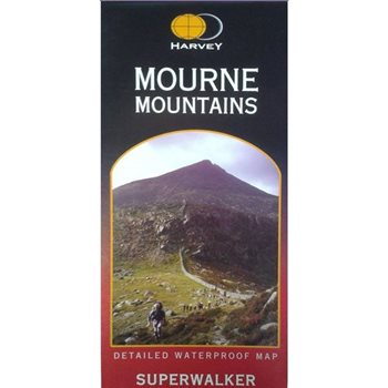 Harvey Maps Mourne Mountains Superwalker Laminated  - Click to view larger image