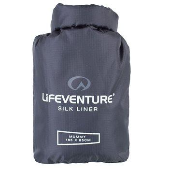 Lifeventure Unisex Silk SB Liner Mummy Sleeping Bag  - Click to view larger image