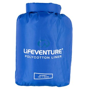 Lifeventure Unisex Polycotton SB Liner Mummy Sleeping Bag  - Click to view larger image