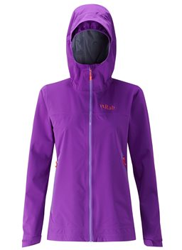 Rab Womens Kinetic Plus Waterproof Jacket Nightshade - Click to view larger image