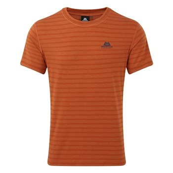 Mountain Equipment Mens Groundup Tee Base Layer Bracken Stripe - Click to view larger image