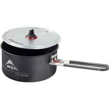 MSR Ceramic Solo Pot 1.3L Non-stick Hard Anodized Aluminum Pot  - Click to view larger image