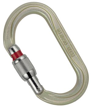 Petzl Oxan Screw Lock Oval Steel Carabiner  - Click to view larger image