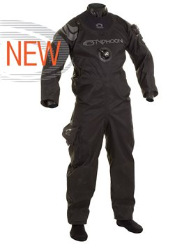 Typhoon Mens Spectre Shoulder Back Entry Zip Version Diving Drysuit  - Click to view larger image