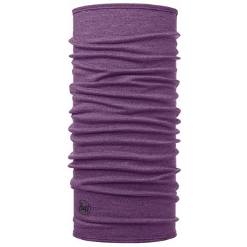 Buff Mid Weight Merino Wool - Purple Melange  - Click to view larger image