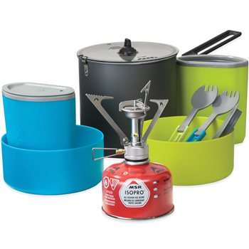 MSR PocketRocket Stove Kit 2 Person Complete Cook & Eat Kit  - Click to view larger image