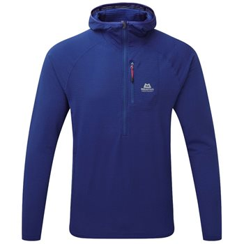 Mountain Equipment Solar Eclipse Hooded Zip Tee Sodalite Blue - Click to view larger image