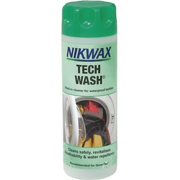 Nikwax Tech Wash 300ml Cleaner for Water-repellent Fabrics   - Click to view larger image