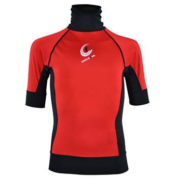 Circle One Kids Lycra Short Sleeve Rash Vest Red - Click to view larger image