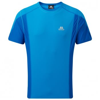 Mountain Equipment Mens Ignis Tee Base Layer Finch Blue - Lapis - Click to view larger image