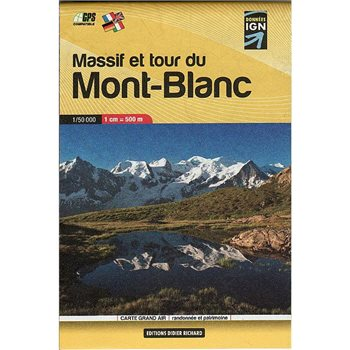 Books/Maps Mont Blanc Pocket Map 1:50000 Map  - Click to view larger image