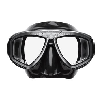 Scubapro Zoom Evo Dive Mask Black Silicone Black Silver - Click to view larger image