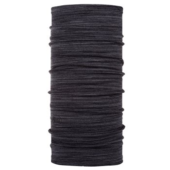 Buff Mid Weight Merino Wool Castlerock Grey Multi Stripes  - Click to view larger image