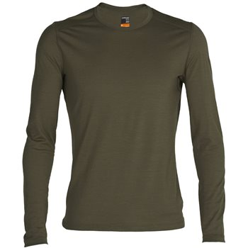 Icebreaker Mens 200 Oasis LS Crewe Thermal Base Layer 200 Oasis LS Crewe - Nightfall - Click to view larger image