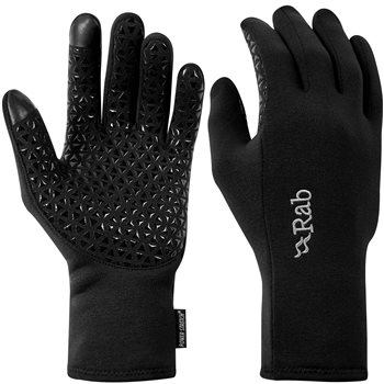 Rab Mens Power Stretch Contact Grip Gloves Power Stretch Contact Grip - Black - Click to view larger image