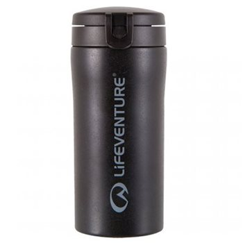 Lifeventure Flip Top Thermal Mug 300ml Stainless Steel  - Click to view larger image