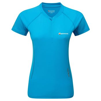 Montane Female Snap Zip T-Shirt Base Layer  - Click to view larger image