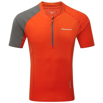 Montane Mens Fang Zip T-Shirt Base Layer  - Click to view larger image
