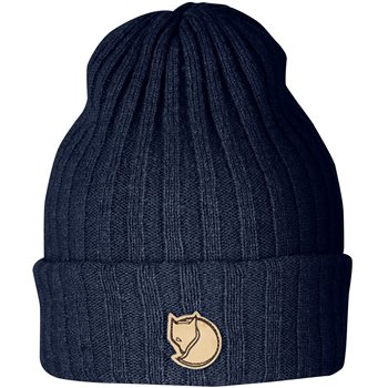 Fjallraven Unisex Byron Knitted Wool Hat  Byron Hat - Dark Navy - Click to view larger image