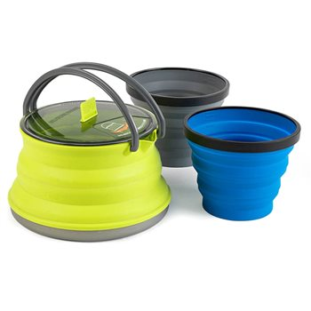 Sea to Summit X-Set 11 2 Person Lightweight Collapsible Kettle Mug Set   - Click to view larger image