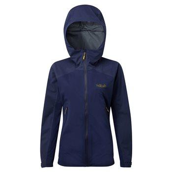 Rab Womens Kinetic Alpine Waterproof Jacket Kinetic Alpine - Blueprint - Click to view larger image