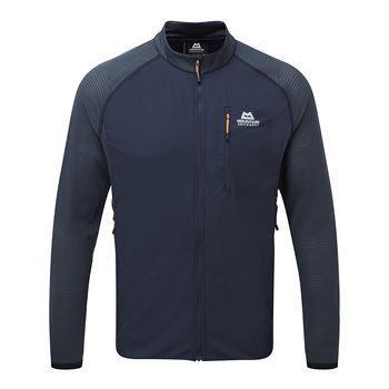 Mountain Equipment Mens Trembler Jacket Soft Shell Cosmos - Blue Nights - Click to view larger image