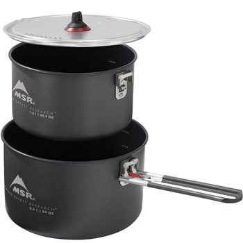 MSR Ceramic 2-Pot Set 2.5L / 1.5L Non-stick Hard Anodized Aluminum Pots Ceramic 2-Pot Set - Click to view larger image