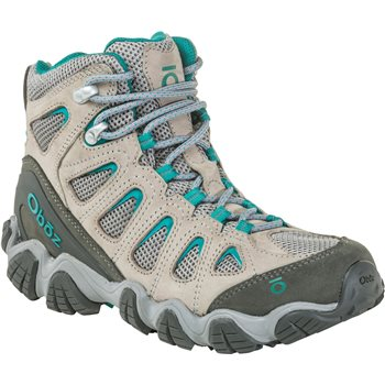 Oboz Womens Sawtooth 2 Mid Walking / Hiking Shoes Sawtooth 2 Mid - Drizzle Aqua - Click to view larger image
