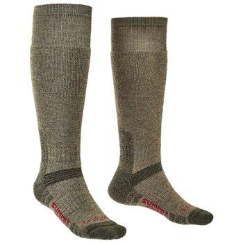 Bridgedale Unisex Explorer HW Knee Merino Socks Explorer Heavyweight Knee - Olive - Click to view larger image