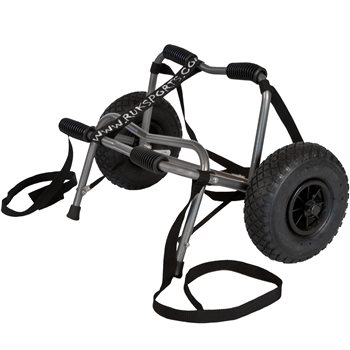 Ruk Sport  Canoe Trolley Delux With PU Wheels and Strap Canoe Accessory  Delux Canoe Trolley With Straps - Click to view larger image