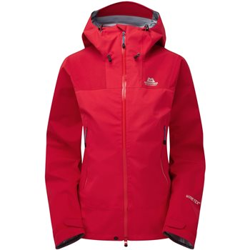 Mountain Equipment Womens Rupal Waterproof Jacket Rupal Jacket - Imperial Red-Crimson - Click to view larger image