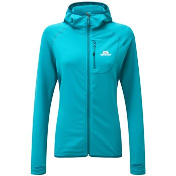 Mountain Equipment Womens Eclipse Hooded Fleece Jacket Eclipse Hooded Jacket - Pool Blue-Tasman - Click to view larger image