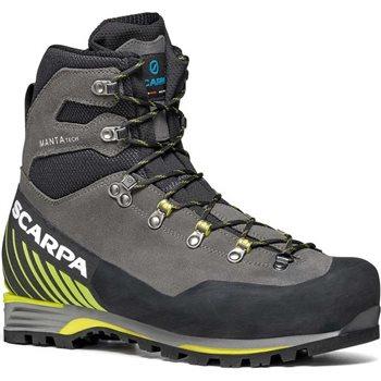 Scarpa Mens Manta Tech GTX Mountaineering Boots  Manta Tech GTX - Shark-Lime - Click to view larger image