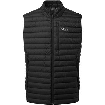 Rab Mens Microlight Down Insulated Vest Microlight Vest - Black - Click to view larger image