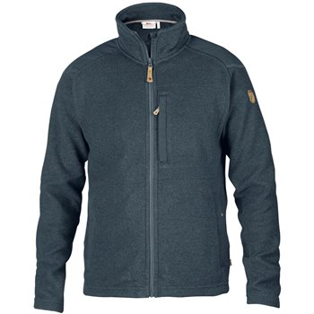 Fjallraven Mens Buck Fleece Knitted Jacket Buck Fleece - Graphite - Click to view larger image