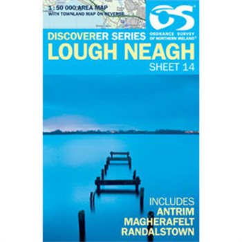 OS Northern Ireland 14 Lough Neagh 1:50000 Map  - Click to view larger image