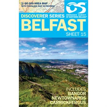 OS Northern Ireland 15 Belfast 1:50000 Map  - Click to view larger image