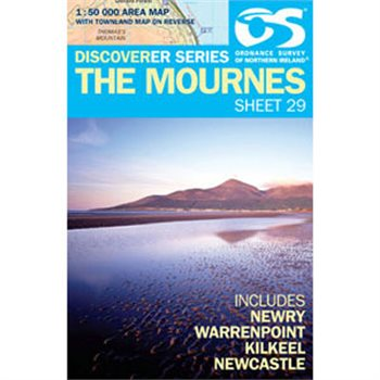 OS Northern Ireland 29 Mournes 1:50000 Map  - Click to view larger image