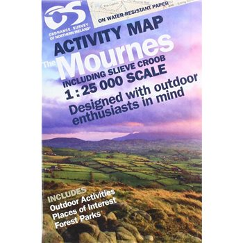OS Northern Ireland The Mournes 1:25000 Laminated Map  - Click to view larger image